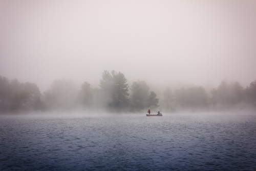"""Foggy Day Fishing"" by Mickey Strider"