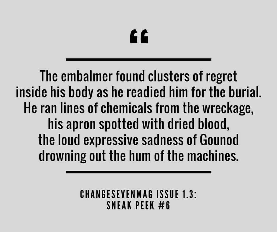 Teaser, Change Seven, Issue 1.3