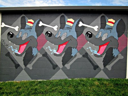 """Bone Crazy"" mural by Kendall Doub"