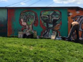 mural wall wells