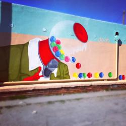 Winston-Salem Art District mural by Kendall Doub