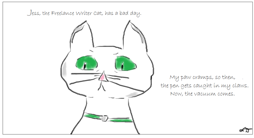 Jess, the Freelance Writer Cat, has a bad day.2