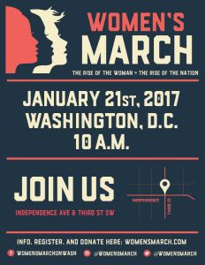 Rise of the Woman / Official Women's March on Washington poster